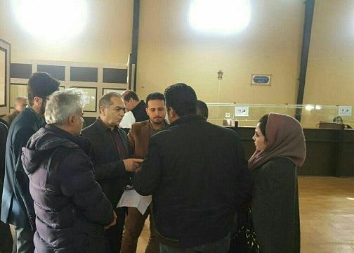 بازدید سرزده معاون مالی ،پشتیبانی شرکت عمران پردیس از کارگزاری مسکن مهر
