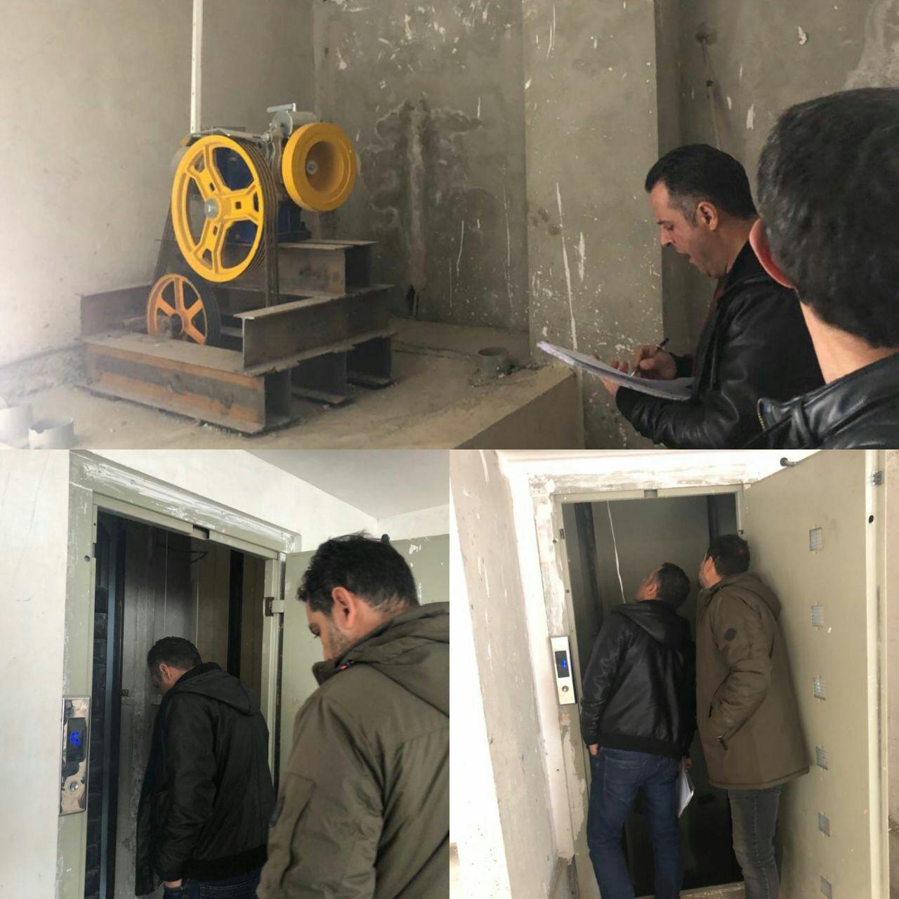 ورود بخشی از اقلام مورد نیاز برای راه اندازی آسانسور پروژه مسکن مهر شرکت پردیس سازان نوید