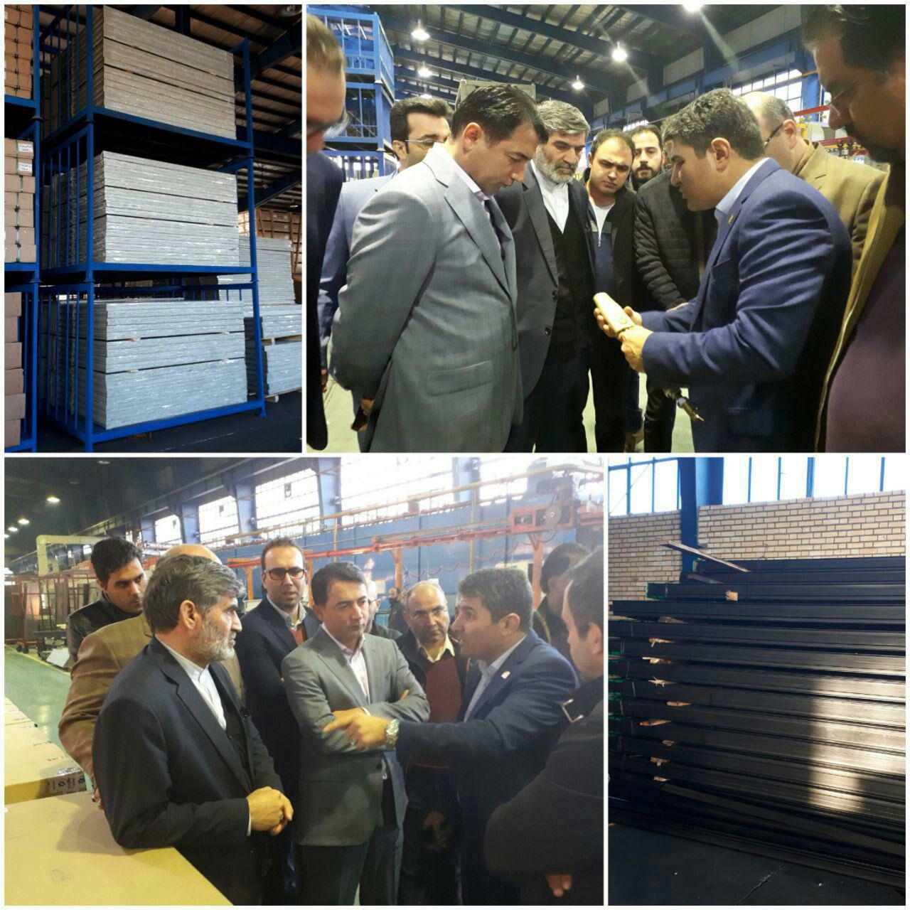 بازدید مدیرعامل شرکت عمران و تعدادی از سازندگان مسکن مهر پردیس، از  کارخانه آسانسور
