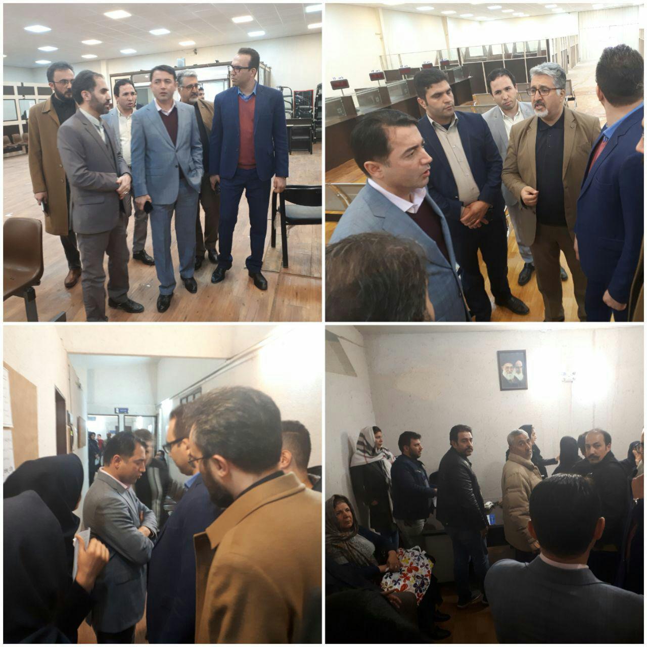 بازدید سرزده مدیرعامل شرکت عمران شهر جدید پردیس از محل کارگزاری مسکن مهر