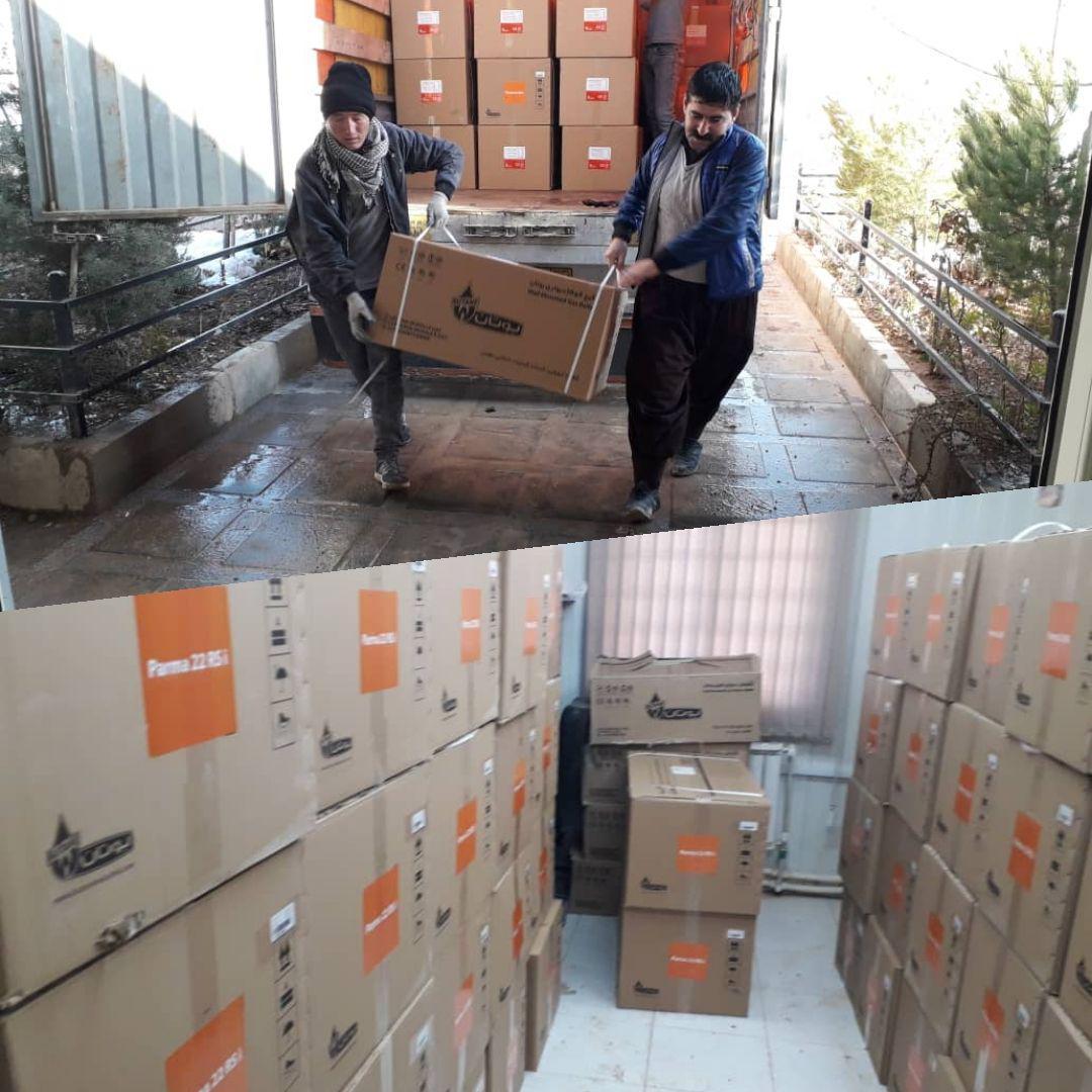 ورود پکیج به کارگاه شرکت کوزو پارس فاز ۱۱ پردیس  سه شنبه: ۹۷/۱۰/۱۸