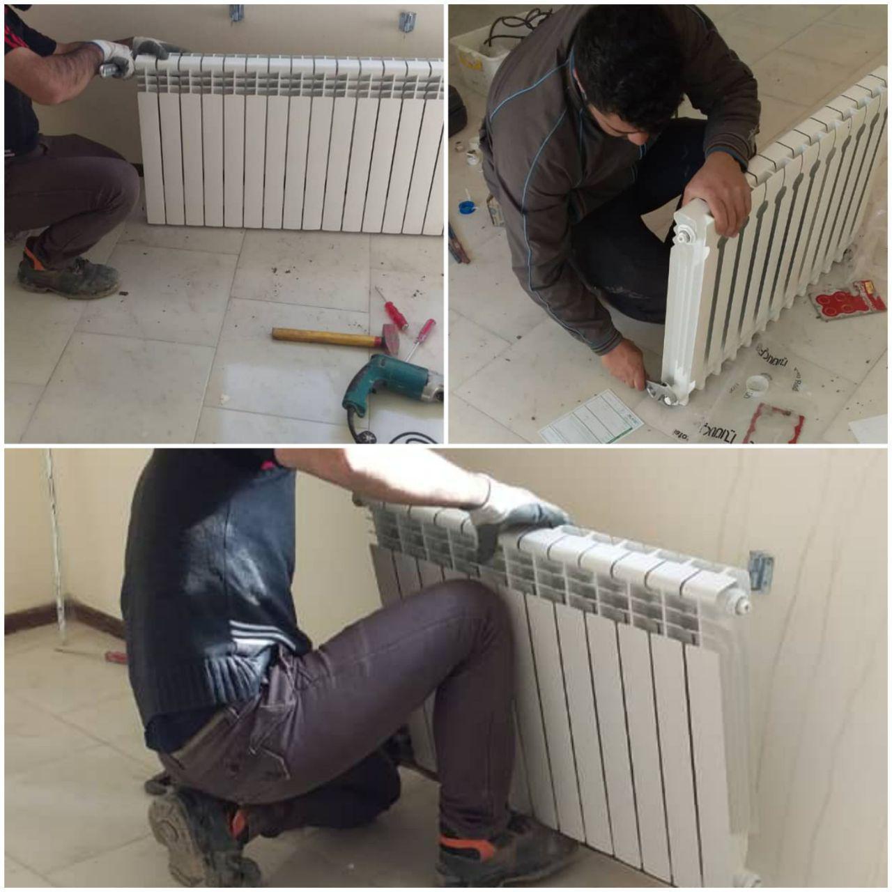 شروع نصب رادیاتورهای باقیمانده در زون 5 فاز ۱۱ پردیس